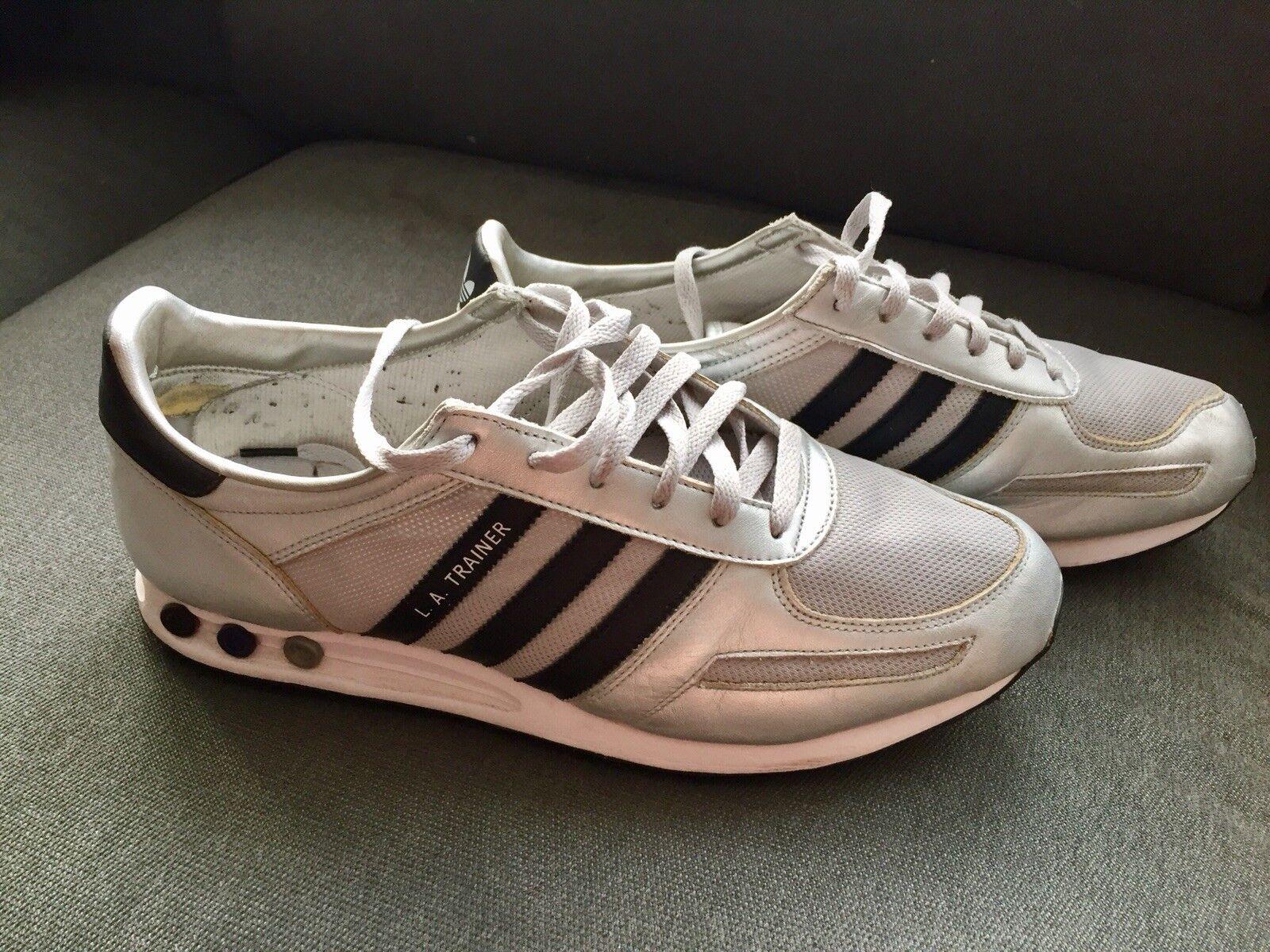 Adidas LA trainer 47 1/3 Herren Schuhe Silber Schwarz