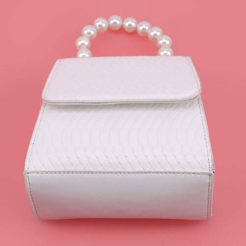 Women/'s Pearl Handle Chain Handbag Crossbody Shoulder Bag Travel Tote Purse LC