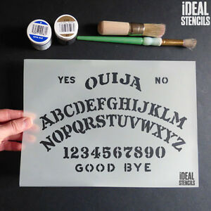 Image Is Loading Halloween Ouija Board Decoration Stencils Craft Paint Reusable