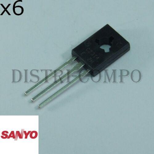 Lot de 6 2SC2314 Transistor NPN 45V 1A TO-126 Sanyo RoHS