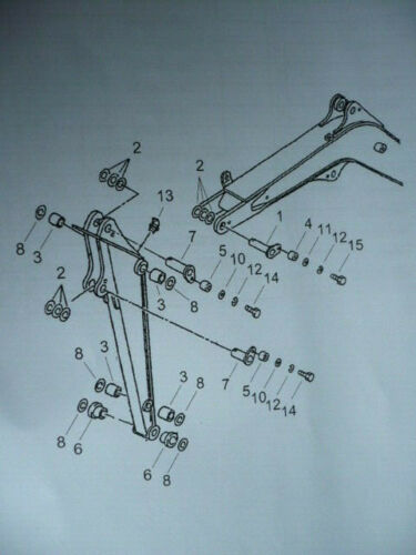 Bolzen Buchsenkit Dichtung Ringe pin set bracket boom Yanmar B15-3 Minibagger