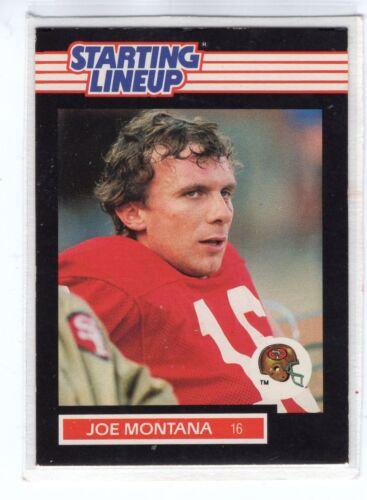 SAN FRANCISCO 49ERS 1989  JOE MONTANA Kenner Starting Lineup Card