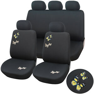 auto sitzbez ge sitzbezug schoner f r pkw ohne seitenairbag schwarz gelb as7308 ebay. Black Bedroom Furniture Sets. Home Design Ideas