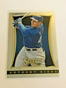 2013-Panini-Select-Baseball-Base-Card-Anthony-Rizzo-Chicago-Cubs