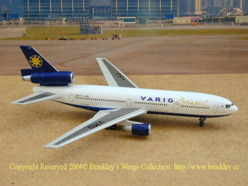 DRAGON WINGS VARIG AIRLINES DC-10 1:400 Diecast Commercial Plane Model 55670