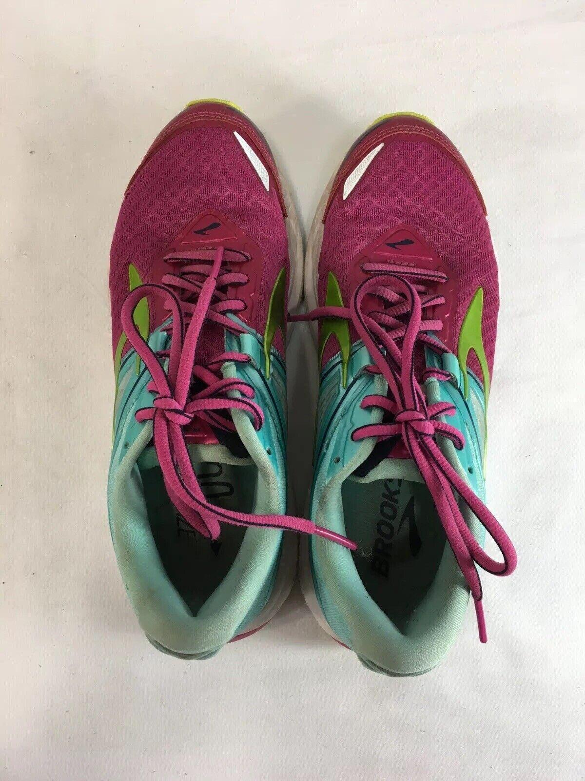 Brooks Ravenna 8 Turnschuhe schuhe damen 6.5 Rosa Blau Blau Blau Grün Running Lace Up 153b32