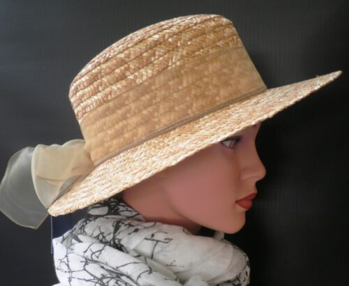 Damen Hut eleganter Strohhut Sonnenschutz Urlaub Garten Sommerhut Damenhüte