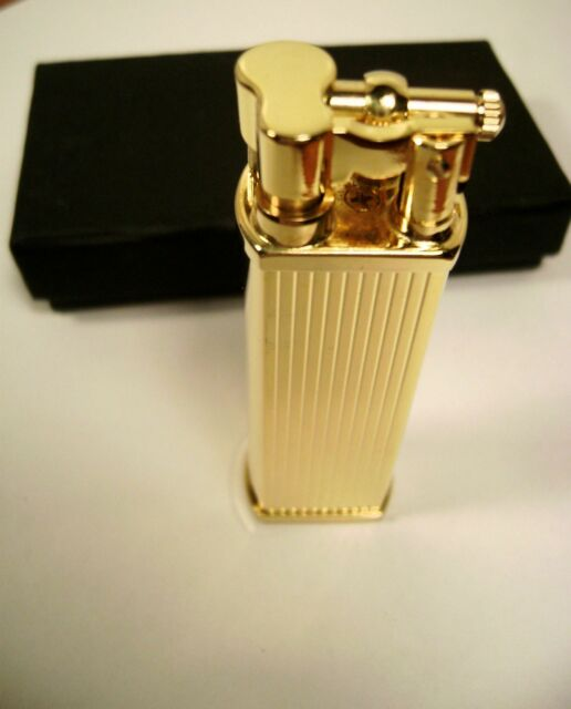 Tsubota Pearl BOLBO, Gold Stripeline model Pipe Lighter Seki City, Japan Old Boy