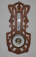 jugendstil barometer thermometer wetterstation alt antik geschnitzt top deko R C
