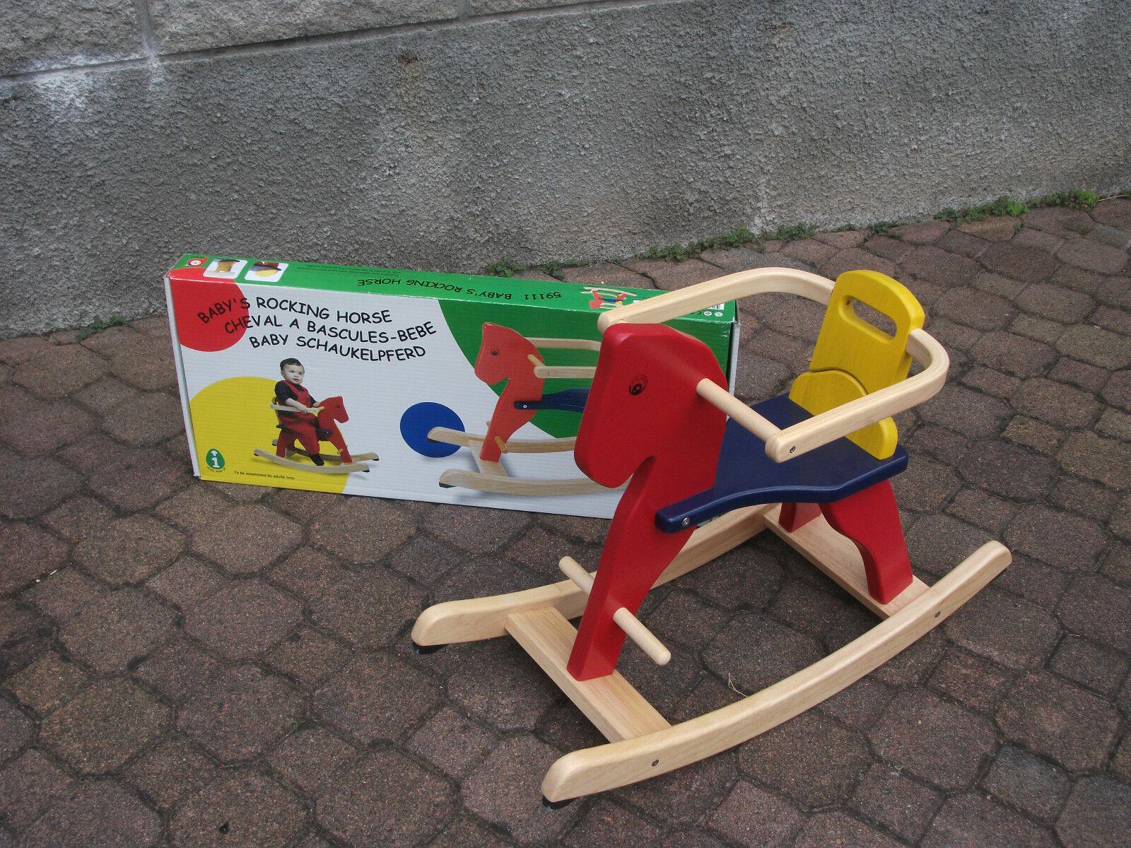 Giocattoli in legno  Pinton Toy 5911-1 Cavallo a dondolo  - colorato
