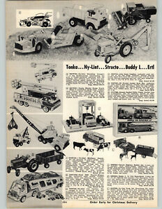 1970 PAPER AD Tonka Toy Truck Mylint Structo Buddy L Car Carrier Snorkel Utility