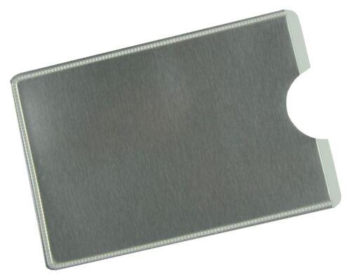 RFID Blocker NFC Schutzhülle EC Kartenhülle Soft Silber Personalausweis TÜV Gepr