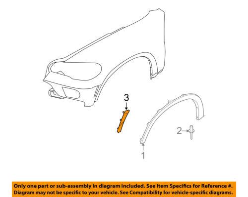 BMW OEM 07-10 X5 Fender-Reflector Right 63217162548