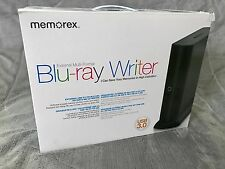 NEW! Memorex External Slim Blu-ray Writer 6x Portable Multi-Format USB 2.0
