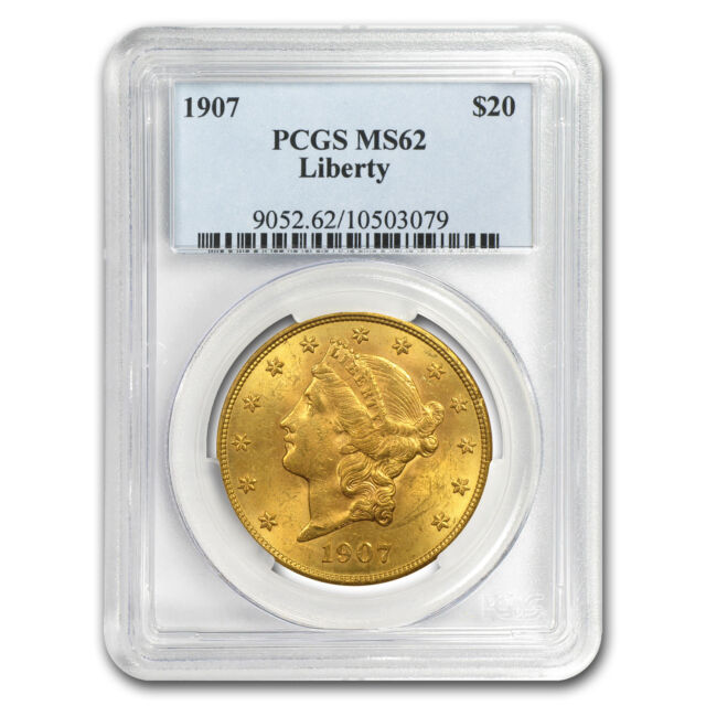 $20 Gold Liberty Double Eagle Coin - Random Year - MS-62 PCGS - SKU #7226