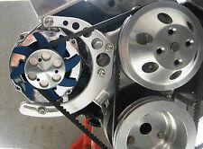 Sbc Alternator Bracket Kit Long Pump Billet Aluminum Mid Mount Small Block Chevy