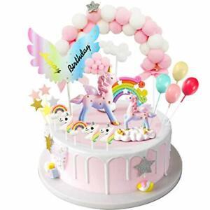 iZoeL décorations de gâteaux Licorne Licorne Cake Topper Arc de Boules de Poi...