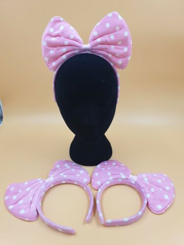 3 pack  GIANT PINK BOW  HEADBAND Fancy Dress Alice Band  Ladies Girl Pink Bow