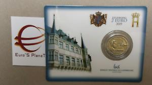 Coin-card-2-euro-2019-Lussemburgo-Luxembourg-Luxemburg-Luxemburgo-Suffrage-ponte