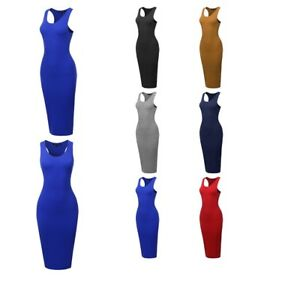8832ed0cb6c33 Image is loading FashionOutfit-Women-039-s-Cotton-Spandex-Basic-Sleeveless-