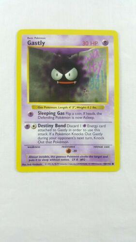 SHADOWLESS Gastly Base Set 50//102 Pokemon Card