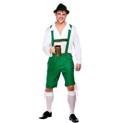 Hat Fancy Dress Mens German Beer Man Bavarian Costume Oktoberfest Lederhosen