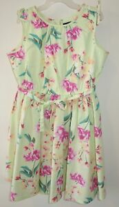Brand-New-In-Package-Lands-039-End-Floral-Twirl-Dress-Girl-039-s-Sz-16-yr