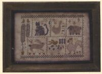 Animal Farm--country--cat--rabbit--pig--chicken--counted Cross Stitch Pattern