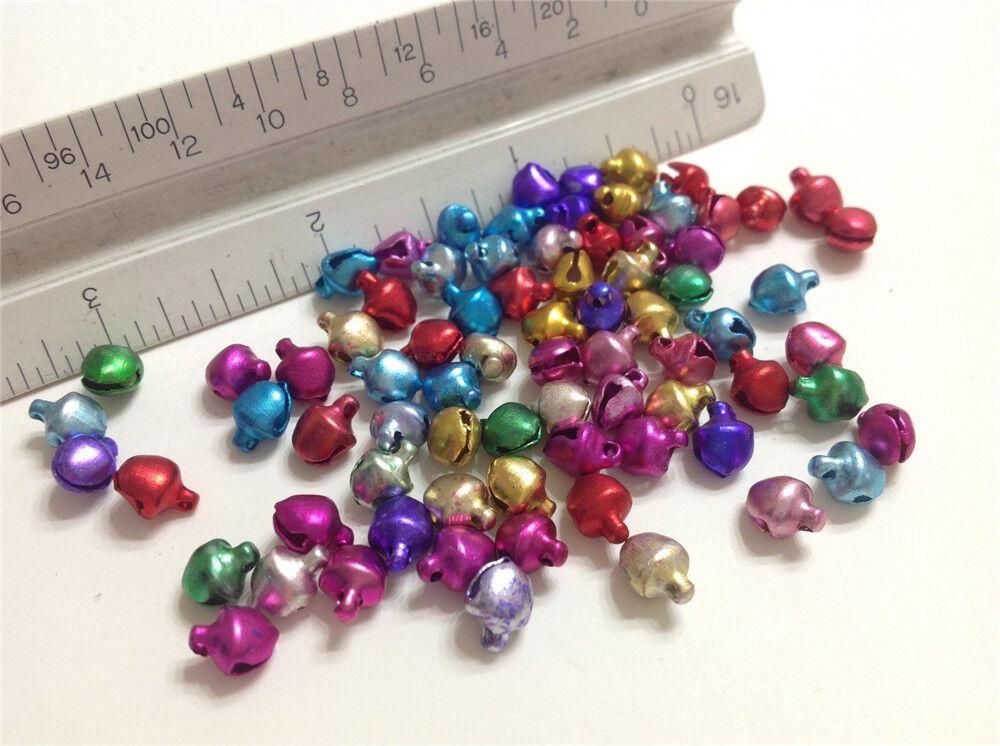 LOT de 40 CLOCHETTES GRELOTS BELLS 9x6mm ARGENTE perle noël carnaval SANS NICKEL