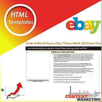 Html Templates Ebay Sellers Listing Design Template Content Marketing Service Ebay
