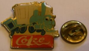 DISNEY-COKE-COCA-COLA-CASEY-TRAIN-vintage-pin-badge
