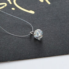 Brand New Floating Illusion Clavicle Zircon Pendant Necklace Invisible Line