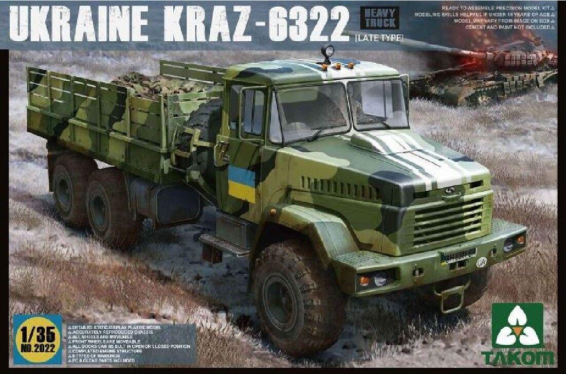 Takom 2022 1 35 Ukraine Kraz-6322 Late Type