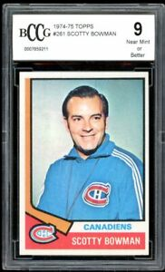 1974-75 Topps #261 Scotty Bowman Rookie Card BGS BCCG 9 Mint+