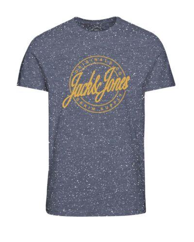 JACK /& Jones Originali T-shirt da uomo girocollo logo sul petto con venature TEE jorhazy