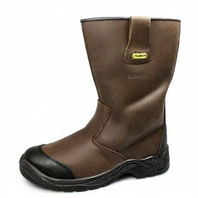NEW MENS STANLEY ASHLAND WATERPROOF LEATHER RIGGER SAFETY BOOTS -  SZ 6 - 12