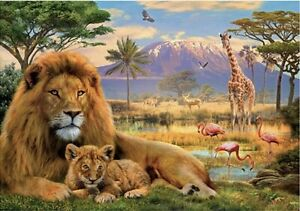 "Puzzles 2000 pieces 96*68 cm ""LION"" Step Puzzle 84028."