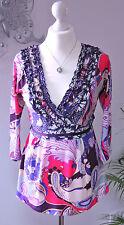 DIDI sommerliche Tunika * Shirt * Long - Shirt * Volants / Rüschen Gr. 36 / 38 S