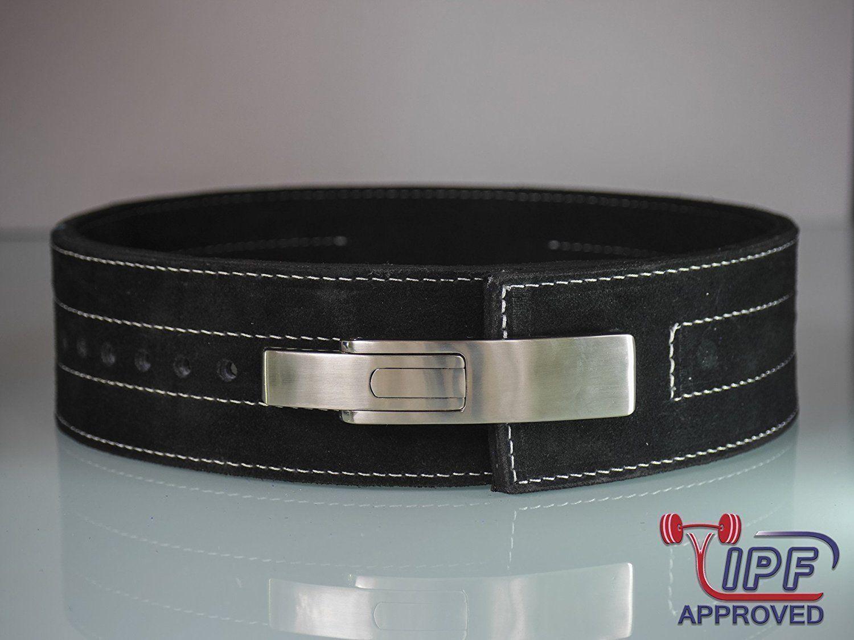 Cinturón halterofilia Palanca 10mm Negro cinturón de levantamiento de pesas (XL) - IPF Aprobado