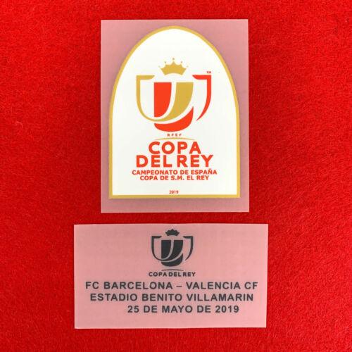 2018-19 Copa del Rey Final 2019 Barcelona vs Valencia Set Player Issue Patch ...