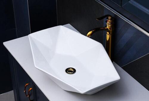 Lavabo dissertation céramique rectangulaire blanc ovale en céramique lavabo Diamant 56,5x36,5