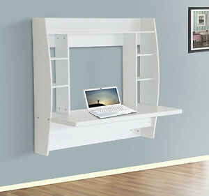 Homcom Floating Wall Mount Office Computer Desk Storage