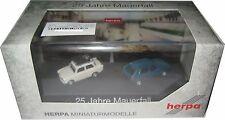 Herpa 101943 2-teiliges PKW-Set 25 Jahre Mauerfall Trabant 601 + VW Golf 2 1:87