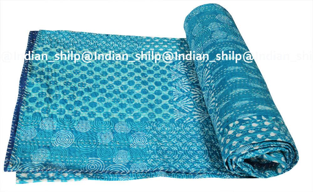 Indian Cotton Kantha courtepointe literie Patchwork Assorted litspread Blanket Coverlet