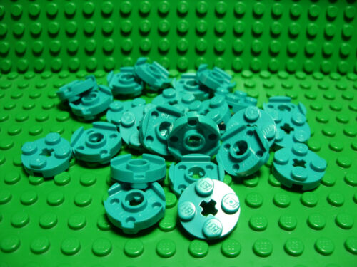 ** 25 CT LOT **  Lego NEW dark turquoise 2 x 2 round plate pieces   Lot of 25