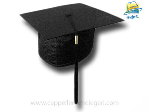 """cappello da laurea """"tocco"""" tesi di laurea università  College Hat nero"""