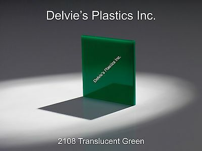 "Green Translucent//Solid Acrylic Plexiglass sheet 1//16/"" x 6/"" x 12/"" #2108"