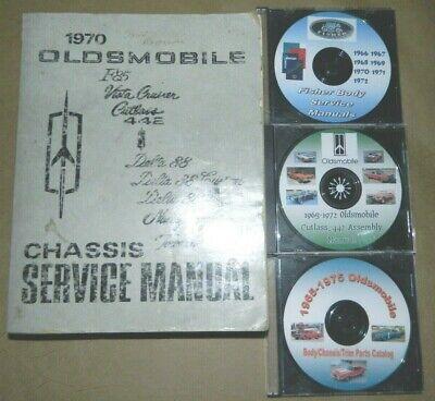 1970 Oldsmobile ORIG Service Manual 4 Vol SET/_442//F85//Cutlass S W-30 W31//Hurst