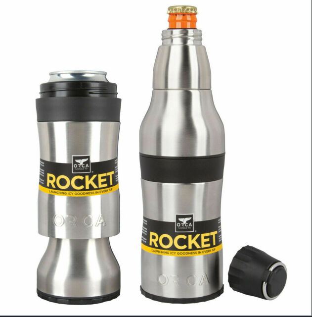 ORCROCK,Orca,Orca Rocket Bottle & Can Holder, Double Walled, Vacuum Sealed,