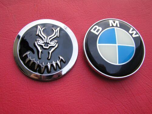 UK~ BLACK PANTHER MOVIE CAR BADGE Large High Quality Chrome Metal Emblem